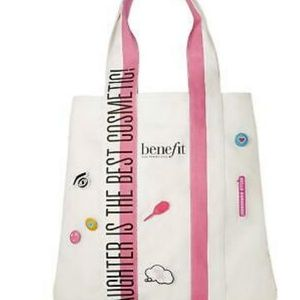 Benefit laughter is the best cosmetic tote